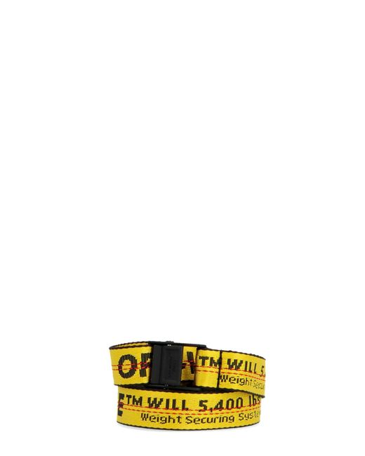 Off-White c/o Virgil Abloh Yellow 'industrial' Belt