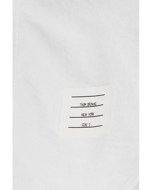 Camicia oxford di Thom Browne in White da Uomo