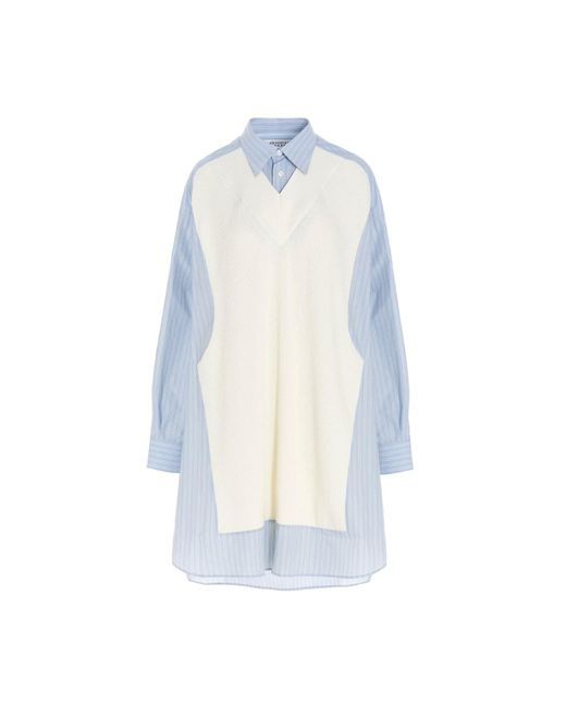 Camicia inserto gilet di Maison Margiela in Multicolor