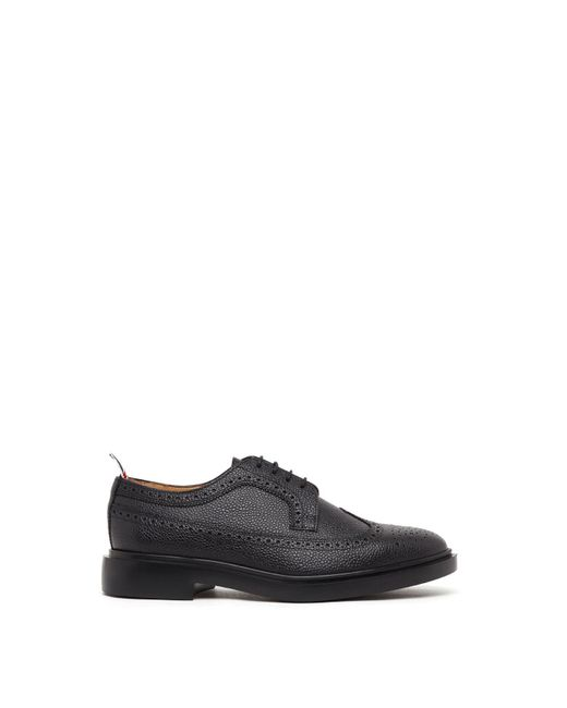 Thom Browne - Black Classic Longwing Brogue W/ Lightweight Rubber Sole In Pebble Grain for Men - Lyst