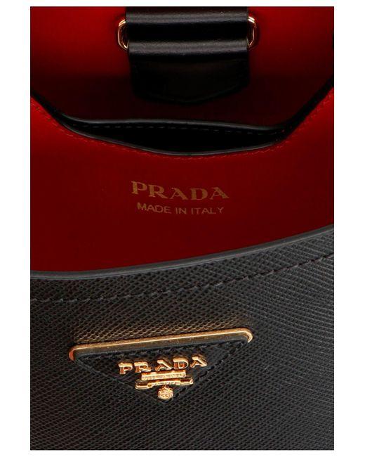 Borsa a mano 'Panier' piccola di Prada in Black