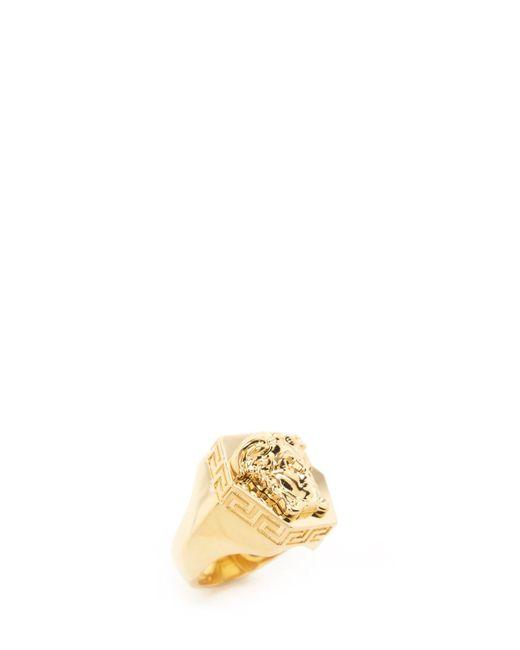 Versace Metallic Mmedusa Ring for men