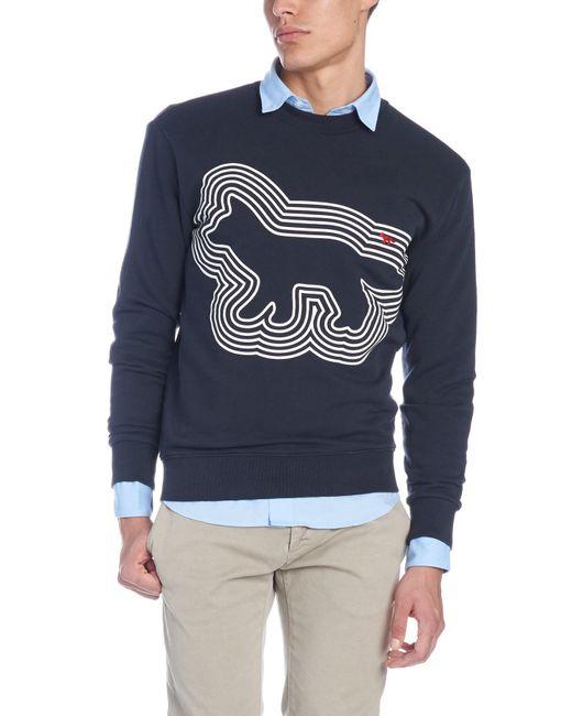 Maison Kitsuné - Gray 'radar Fox' Sweatshirt for Men - Lyst