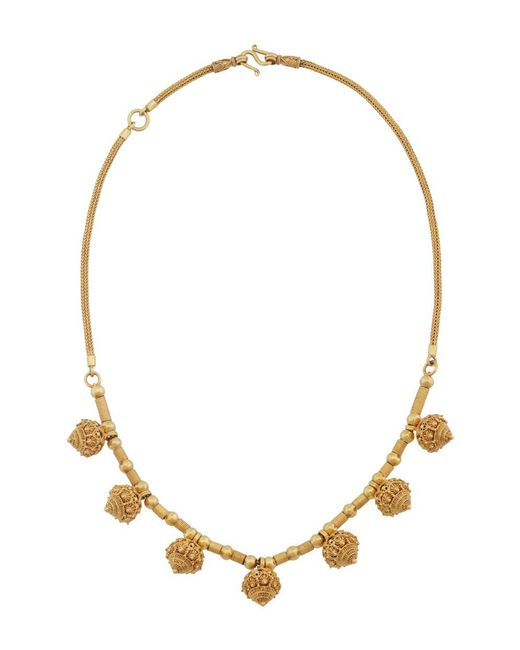 Royal Thai - Metallic Thai Lotus Necklace - Lyst