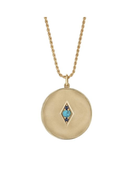 Venyx - Metallic Sagittarius Coin Pendant - Lyst