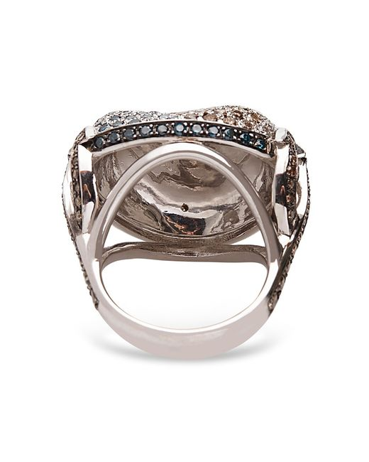 Madstone Poseidon Diamond Ring In Silver White Lyst