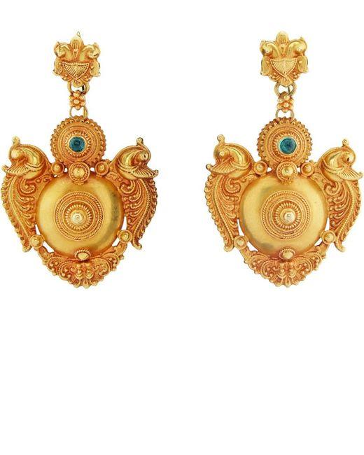 Royal Thai - Metallic Thai Peacock Earrings - Lyst