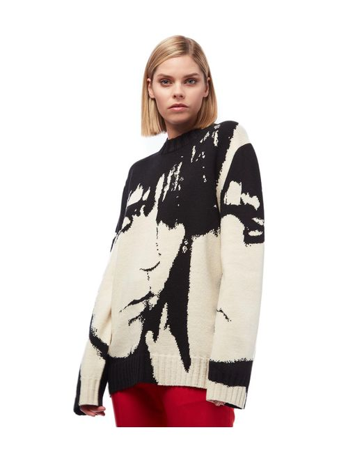 Women's Stephen Sprouse Wool Sweater by Calvin Klein 205 W39 Nyc