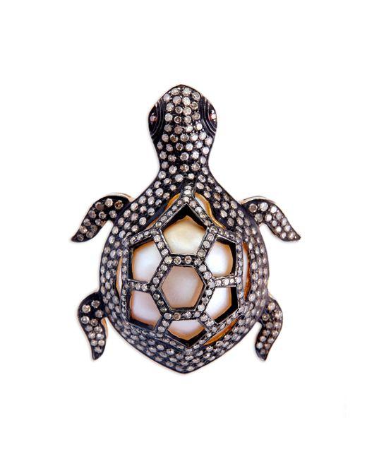 Kirat Young - Metallic Turtle Ring - Lyst