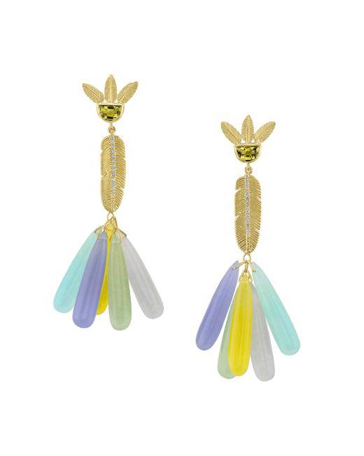 Daniela Villegas - Multicolor Pom Pom Earrings - Lyst