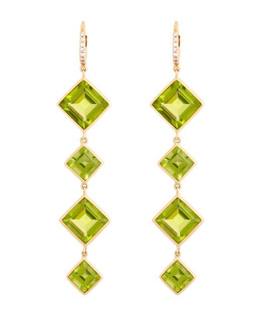 Sidney Garber - Yellow Peridot Diamond Earrings - Lyst