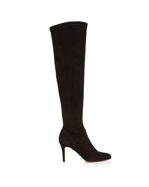 Karen Millen   Black Low Block Heel Boots   Lyst