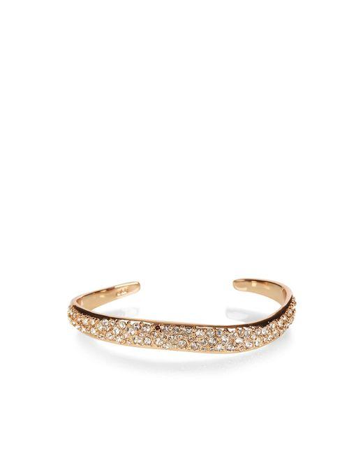 Karen Millen   Multicolor Zz022 Pave Wave Bracelet - Rose Gold Colour   Lyst