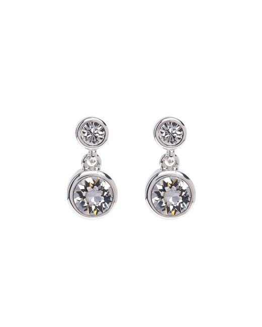 Karen Millen - Metallic Crystal Dot Earrings - Silver Colour - Lyst