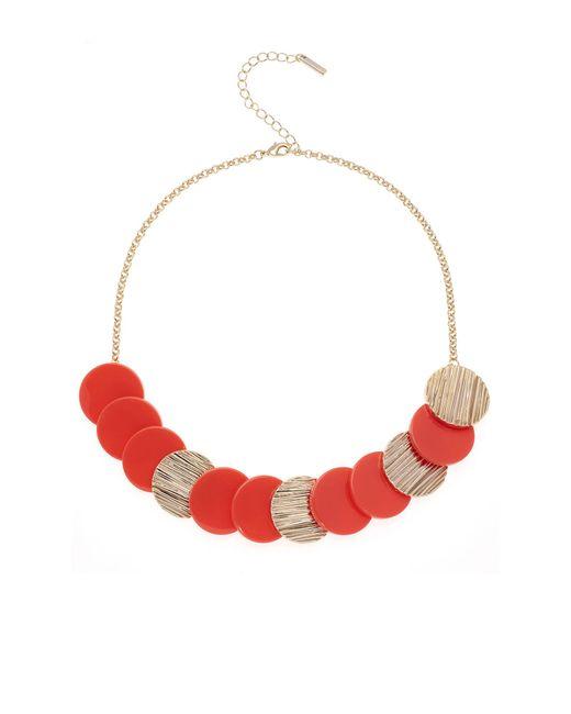 Karen Millen - Textured Disc Necklace - Lyst