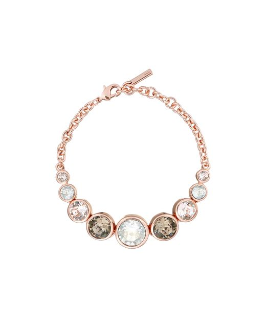 Karen Millen - Metallic Swarovski Teardrop Bracelet - Rose Gold Colour - Lyst