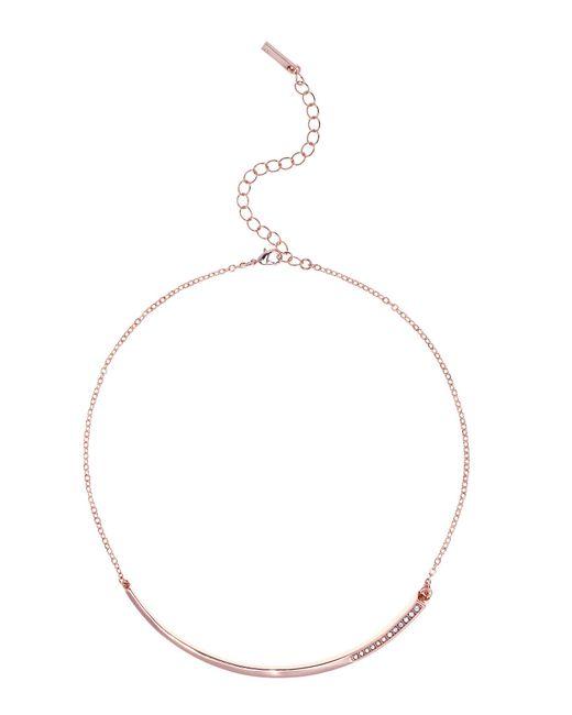 Karen Millen | Metallic Crystal Shard Choker - Rose Gold Colour | Lyst