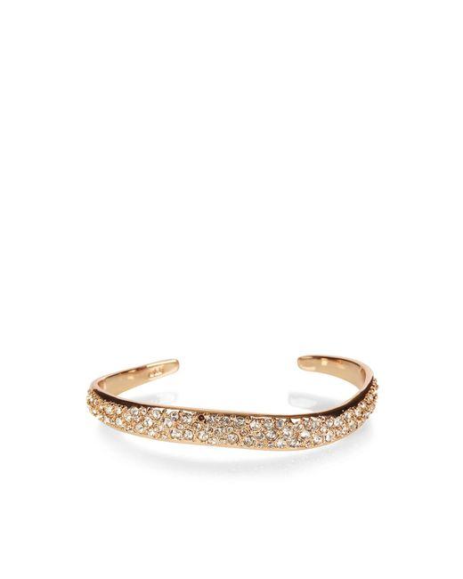 Karen Millen | Multicolor Zz022 Pave Wave Bracelet - Rose Gold Colour | Lyst