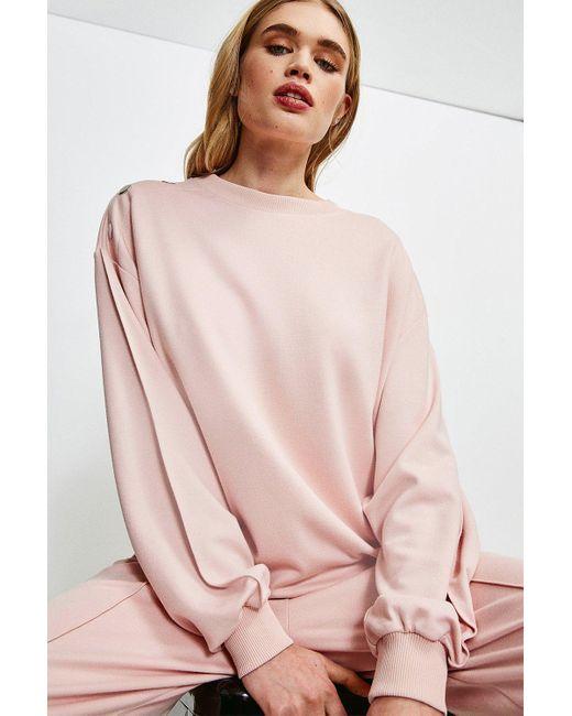 Karen Millen Blue Lounge Smart Ponte Sweatshirt