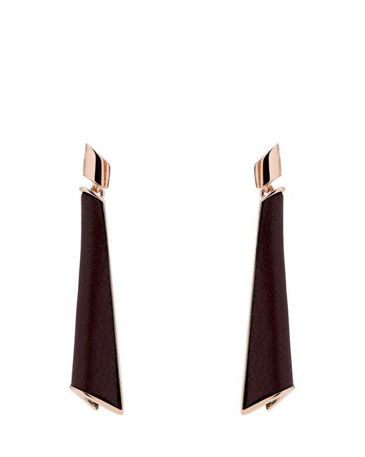 Karen Millen - Multicolor Folded Pleat Drop Earrings - Lyst