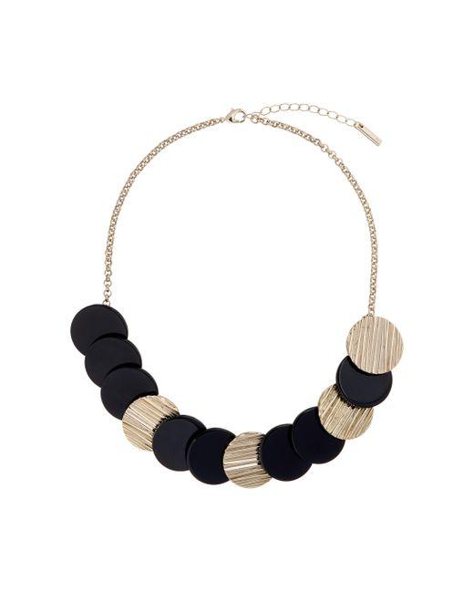 Karen Millen | Blue Textured Disc Necklace | Lyst