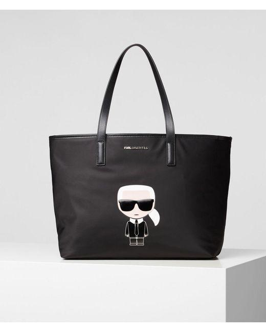 Karl Lagerfeld Black Ikonik Nylon Tote