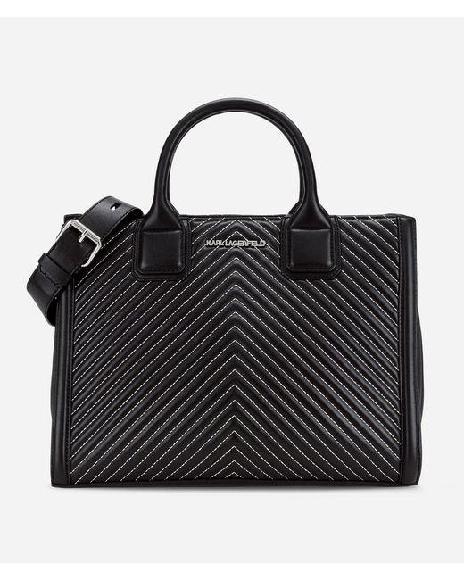 Karl Lagerfeld - Black K/klassik Quilted Leather Tote Bag - Lyst