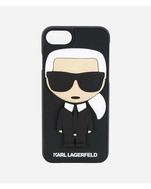 Karl Lagerfeld Black K/ikonik Karl 3d Iphone + Case