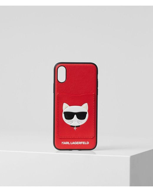 Karl Lagerfeld Red Choupette Iphone Xs Cover