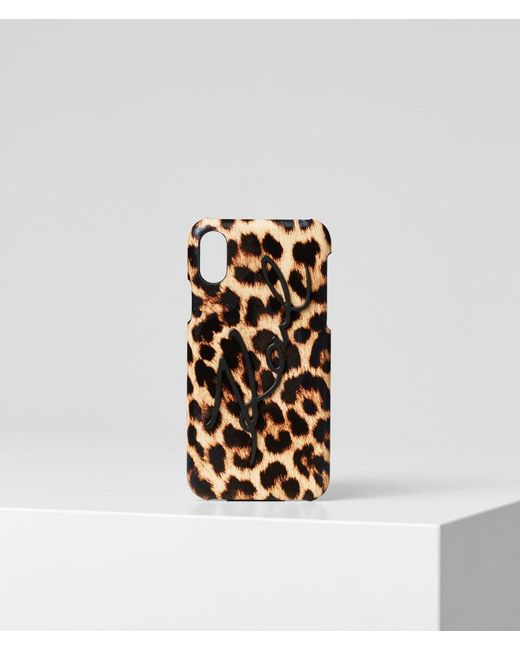 Karl Lagerfeld Multicolor K/signature Leopard Iphone X/xs Cover