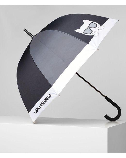 Karl Lagerfeld Black K/ikonik Large Umbrella