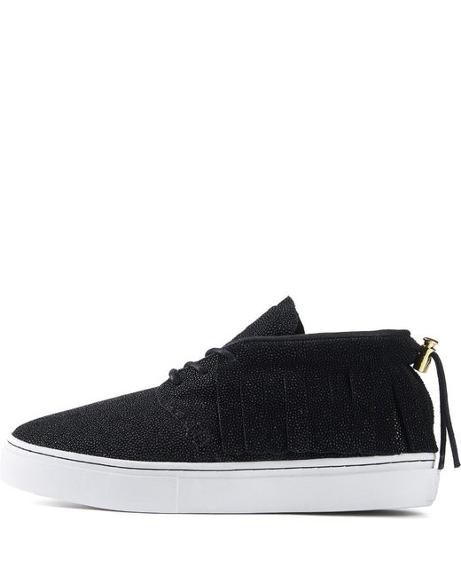 Clear Weather For Men: One O One Black Stingray Chukka Sneaker for men
