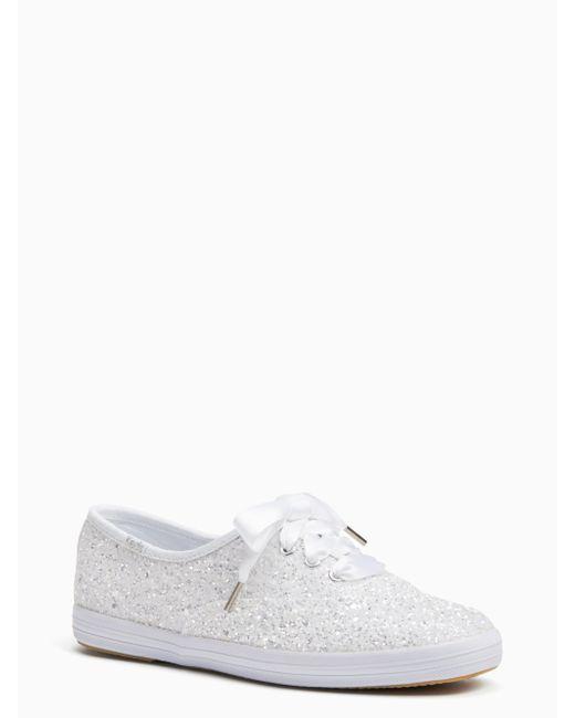Kate Spade - White Keds For Kate Spade New York Glitter Sneaker - Lyst