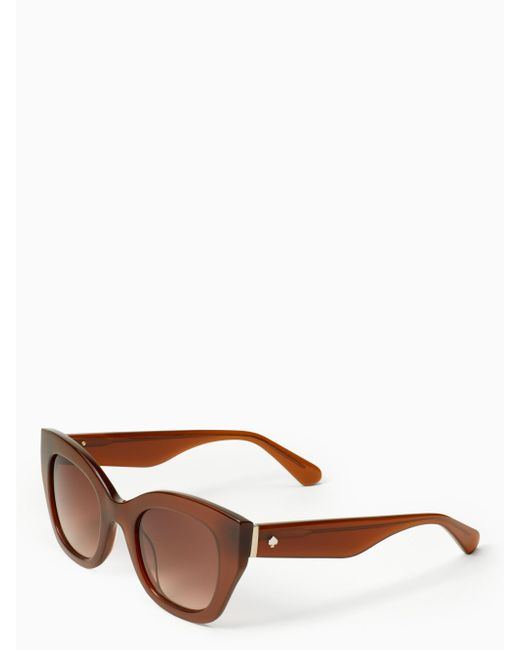 Kate Spade - Brown Jalena Sunglasses - Lyst