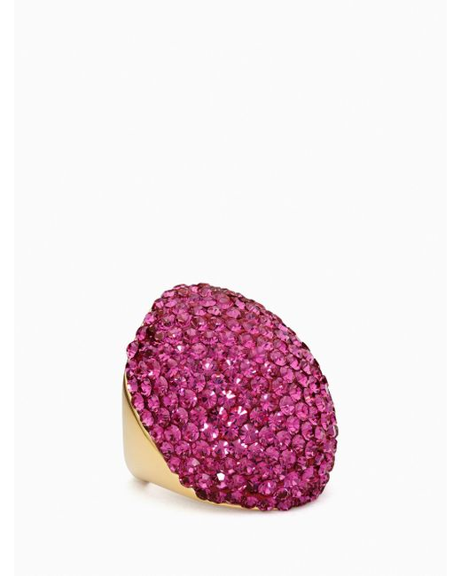 Kate Spade Multicolor Mood Ring Clay Pave Ring