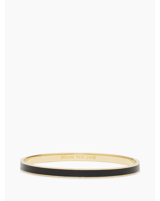 Kate Spade - Black Draw The Line Idiom Bangle - Lyst