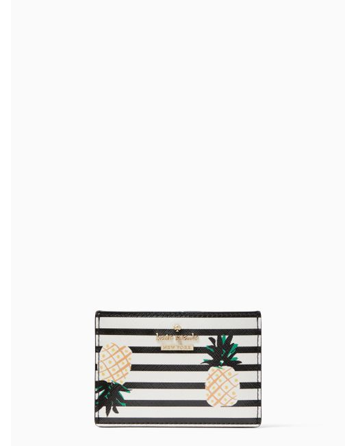 Kate Spade - Multicolor Cameron Street Pineapples Card Holder - Lyst