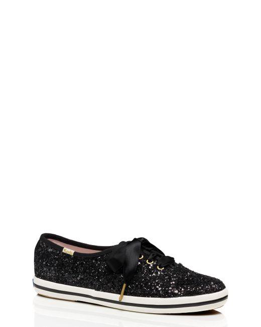 Kate Spade - Black Keds X Glitter Sneakers - Lyst
