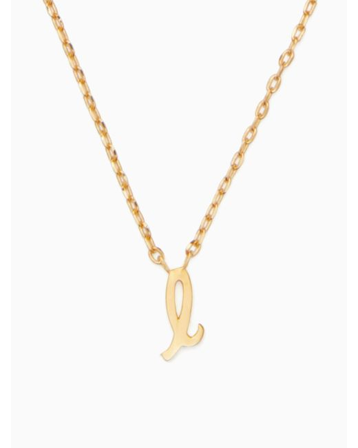 Kate Spade - Metallic One In A Million Initial Pendant - Lyst