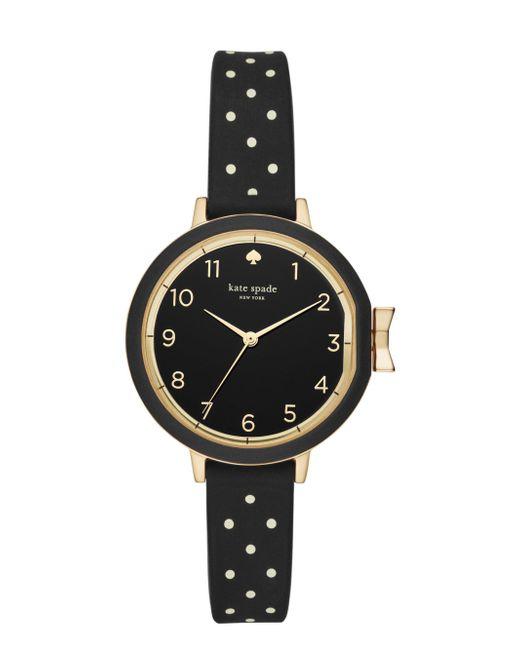 Kate Spade - Metallic Park Row Silicone Strap Watch - Lyst