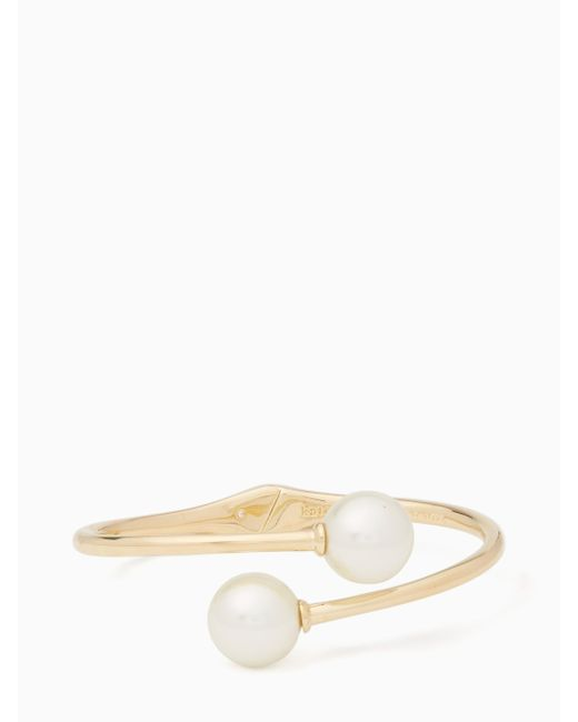 Kate Spade   Natural Golden Girl Bauble Open Hinged Cuff   Lyst