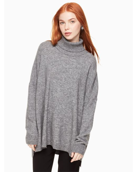Kate Spade - Gray Wool Turtleneck Sweater - Lyst