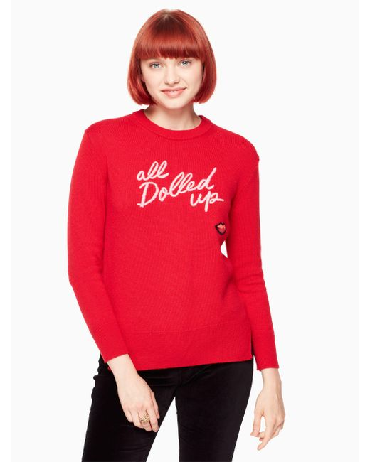 Kate Spade - Red All Dolled Up Sweater - Lyst