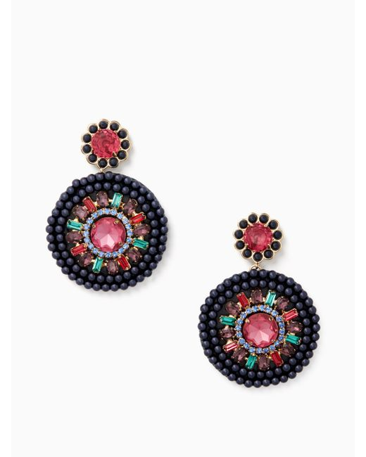 Kate Spade - Multicolor Luminous Leather Statement Earrings - Lyst