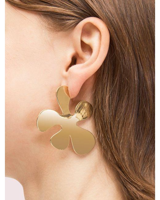 Kate Spade Metallic Botanical Garden Statement Earrings