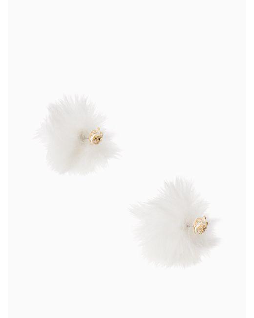 Kate Spade - White Star Bright Owl Reversible Earrings - Lyst