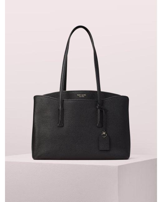 Kate Spade Black Margaux Leather Work Tote