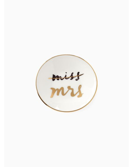 Kate Spade | White Miss To Mrs Ring Dish | Lyst