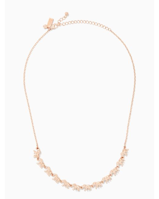 Kate Spade - Multicolor Things We Love Elephant Necklace - Lyst
