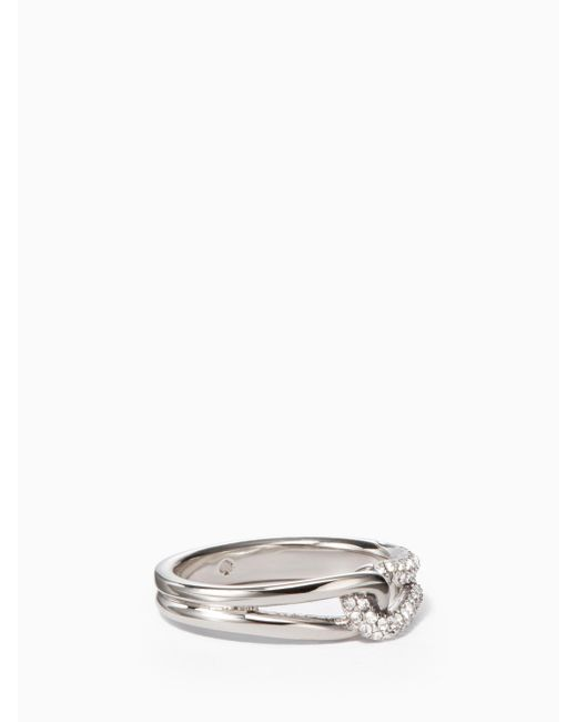 Kate Spade | Metallic Get Connected Pave Loop Ring | Lyst
